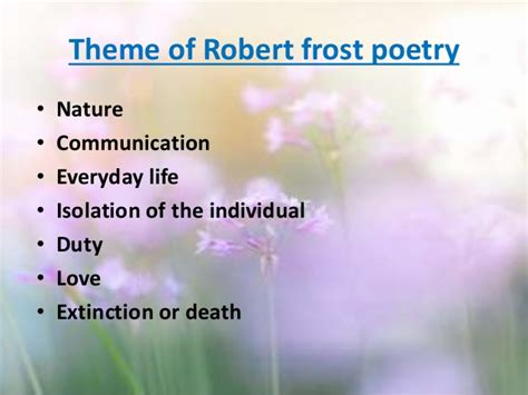 themes in design by robert frost presentation paper 10
