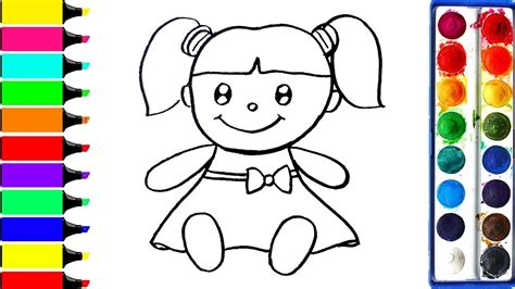 draw coloring book how to draw doll coloring book for to learn learn