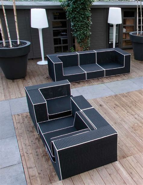 black outdoor wicker furniture black and white outdoor wicker furniture haute terasse