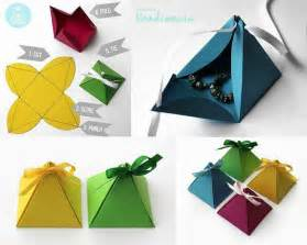 Origami Gift Box - origami box pyramid paper crafts diy and