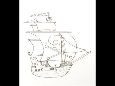 barco pirata dibujo a lapiz como dibujar un barco pirata how to draw a pirate ship