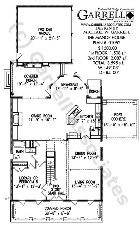 normandy manor house plan classic revival plans manor house house plan classic revival plans