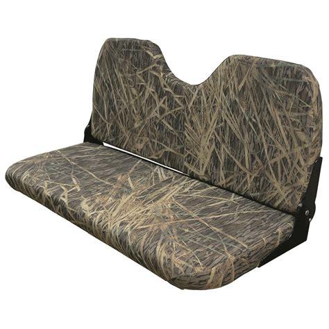 folding bench seat wise 42 quot folding camo bench seat 671370 pontoon seats