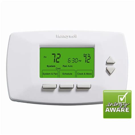 honeywell thermostat fan won t turn off honeywell 5 1 1 day programmable thermostat thermostat