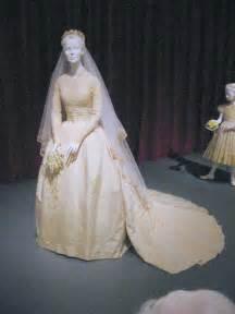 Replica of grace kelly s wedding dress on display in the grimaldi