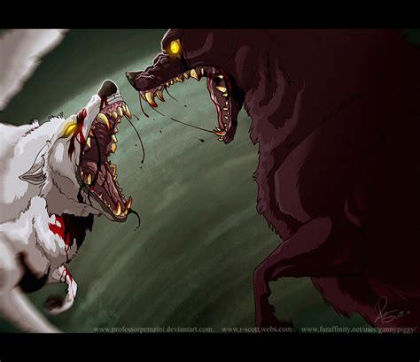 wolf vs white wolf vs wretched beast by professorpemzini on deviantart