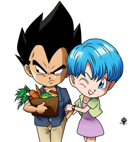 imagenes goku y bulma vegeta y bulma toon by lucario strike on deviantart