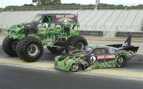 monster truck drag grave digger monster truck drag racer motorsports