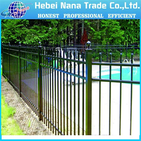 wrought iron railling prices spear top wrought iron picket fence 3 rail steel fence buy