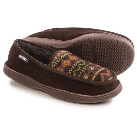 faux shearling slippers mens muk luks henry slippers cotton corduroy w