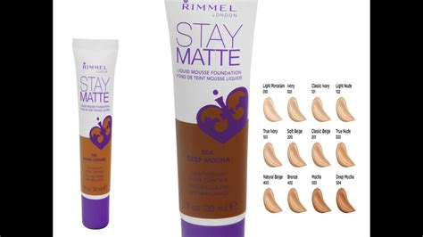 Rimmel Stay Matte Foundation rimmel stay matte foundation demo and review new shade 504