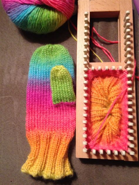 pattern for socks on a loom mittens from pattern by isela phelps loomed by kalicokat