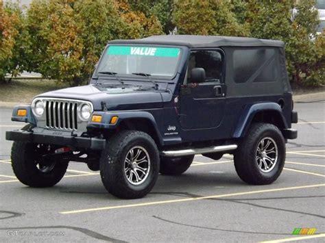 midnight blue jeep 2006 midnight blue pearl jeep wrangler unlimited 4x4