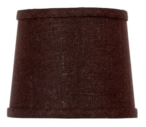 6 inch drum l shade upgradelights chocolate linen 6 inch drum style clip on