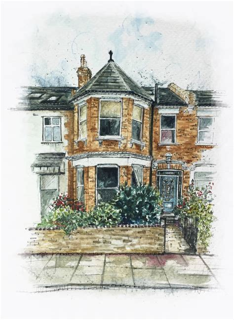 House Portrait Artist by Personalised House Portrait Illustration By Harriet S