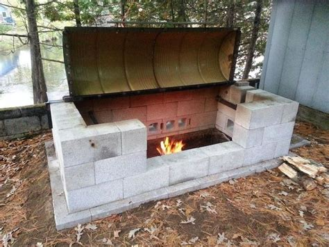 backyard pit bbq 25 best ideas about cinder block fire pit on pinterest