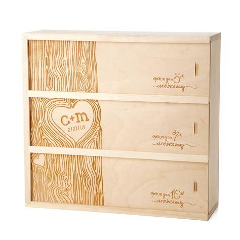 Wedding Anniversary Wine Box by Anniversary Wine Box Personalized Wedding Wine Box