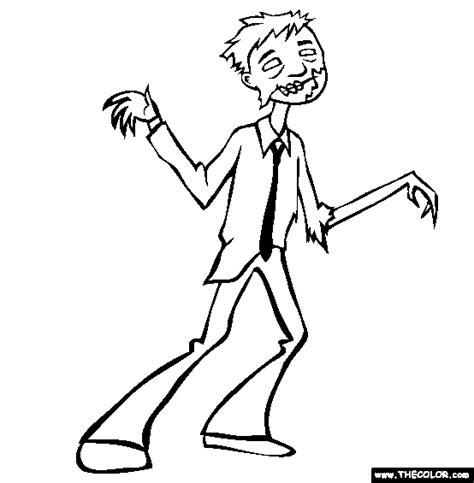 spiderman zombie coloring page free coloring pages