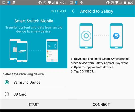 how to use android feature focus how to use samsung smart switch to transfer data from an device to a new