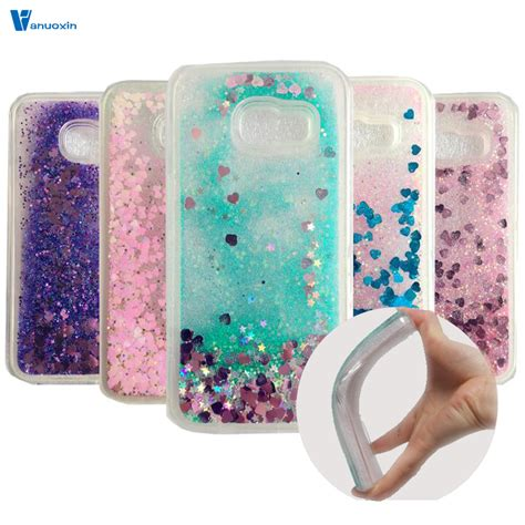 Softcase Tpu Water Glitter Soft Cover Samsung Galaxy A7 2017 glitter liquid soft tpu sfor funda samsung galaxy a3 2017 for coque samsung a3 2017