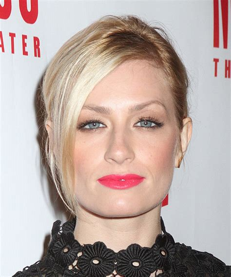 Beth Hairstyle by Beth Behrs Medium Casual Updo Hairstyle With Side