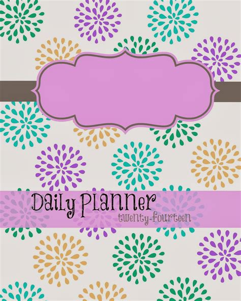 printable planner cover free printable 2014 planner busy mom s helper