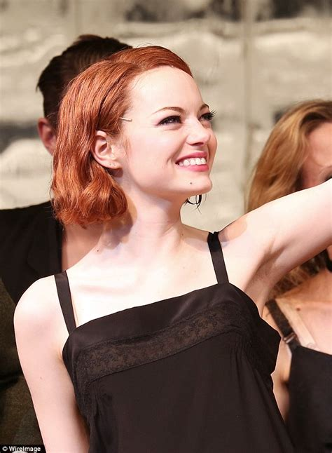 emma stone daily mail emma stone triumphs on opening night of broadway musical