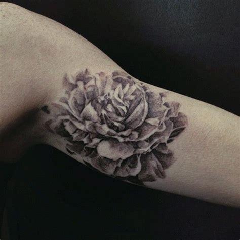 david allen tattoo peony arm by david allen tattoomagz