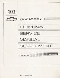 auto repair manual online 1992 chevrolet lumina apv parking system 1991 92 chevrolet lumina service manual supplement