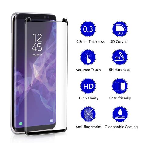 samsung d r dr vaku 174 samsung galaxy s9 plus 3d curved edge screen tempered glass screen guards india