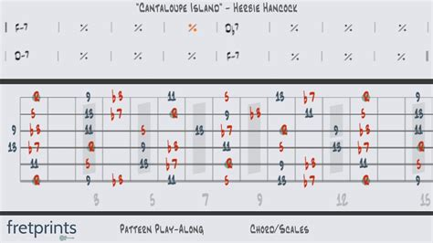 pattern play youtube guitar pattern play along quot cantaloupe island quot herbie