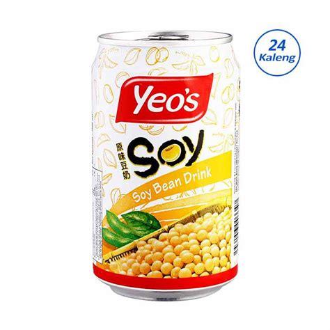 Yeos Kedelai Jual Yeos Soya Bean Kaleng 300 Ml 24 Kaleng