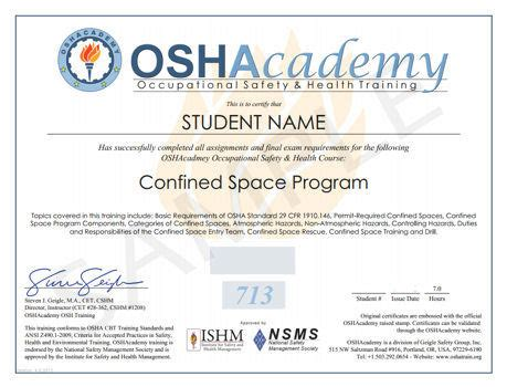 confined space card template oshacademy free occupational safety and health
