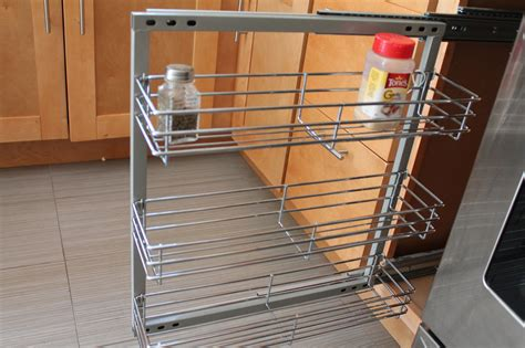 Pull Out Spice Racks For Cabinets Spice Rack In Cabinet Pull Out 3 Shelves 5 5 Quot Wide Wall