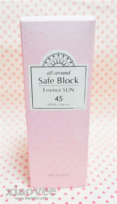 Missha All Around Safe Block Line Edition xiao vee missha all around safe block essence sun spf45 pa review