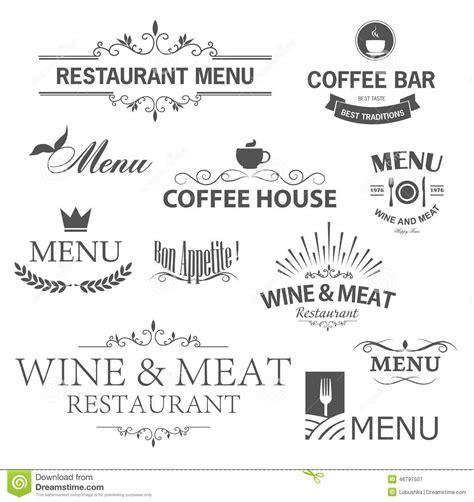 vintage menu design elements vector restaurant signs stock vector image of chef food menu