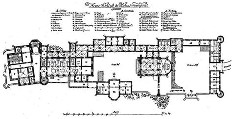 neuschwanstein castle floor plan original plan of schlo 223 neuschwanstein including
