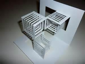 kirigami 1 ejercicio de kirigami en cartulina blanca el