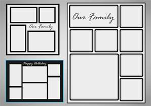 Free Photo Collage Template by Photo Collage Template Vector Set Free Vector