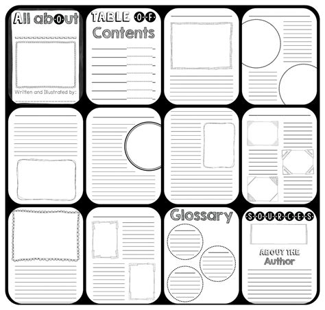 Nonfiction Book Template For Kids To Create Their Own Informational Book Teaching Pinterest Nonfiction Book Template