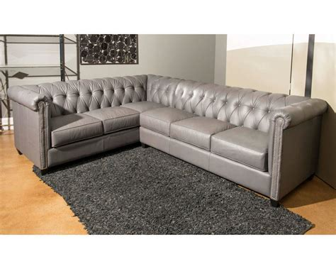 Tufted Leather Sectional Sofa American Made Tufted Leather Sectional Dominion