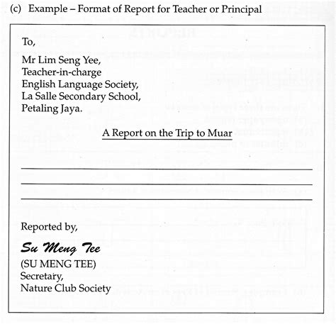Format Of Report Essay by Enquiries On Pmr Nuha S