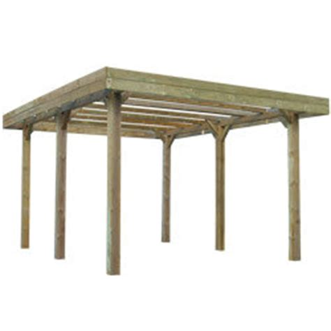 carport holz 4x4 carport aus behandeltem holz selbsttragend h 246 he 2 50 m 4