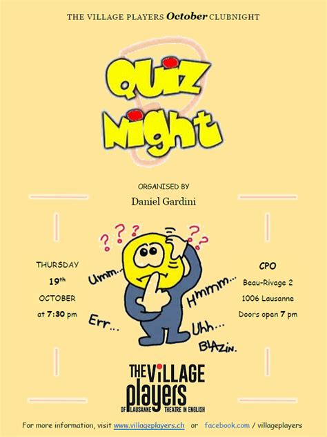 quiz theme night it s quiz night the village players of lausanne