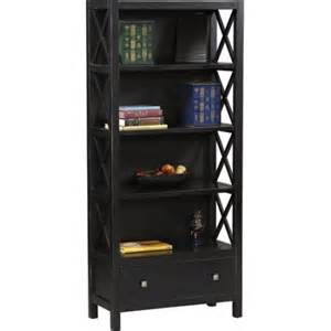 walmart 5 shelf bookcase black linon home decor products collection 5 shelf bookcase