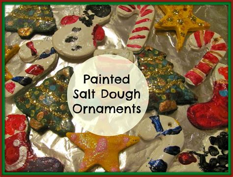 the chocolate muffin tree painted salt dough ornaments