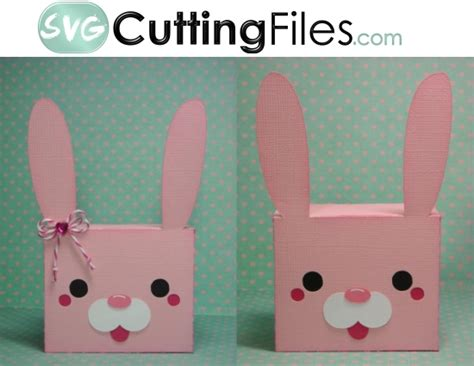 Pp Bunny bunny box container svg cutting file