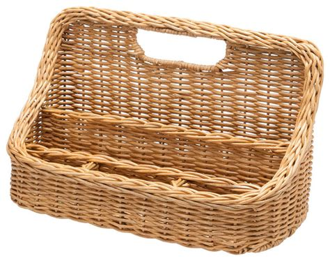 Wicker Desk Organizer Wicker Desk Organizer Traditional Baskets Other Metro By Kouboo