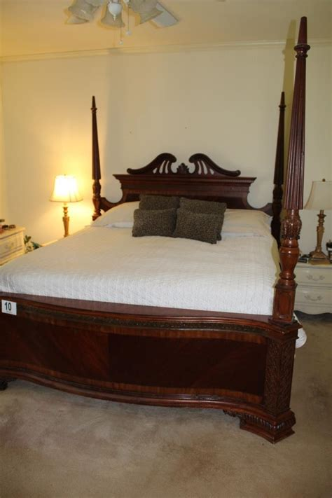 king size 4 post bed headboard footboard and
