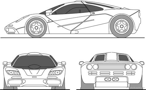 mclaren f1 drawing the blueprints com blueprints gt cars gt mclaren gt mclaren f1
